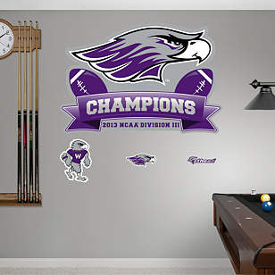 Wisconsin-Whitewater Warhawks 2013 DIII Football Champions Logo